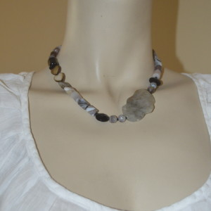 gray  asymmetrical jewelry