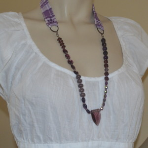 purple asymmetrical jewelry