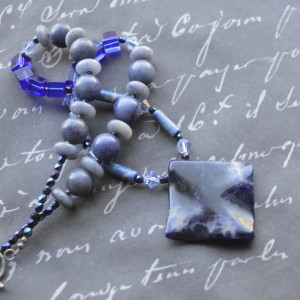 blue necklaces sodalite